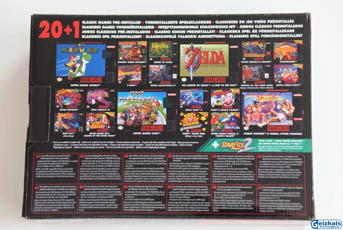 Verpackung Rückseite: Die Highlights der 21 inkludierten Spiele
