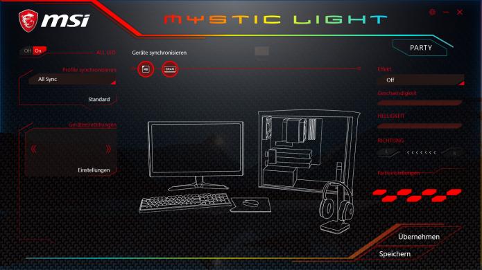Zentrale Steuerungs-Software für möglichst alle angeschlossenen Standard- und Corsair-LED Komponenten.